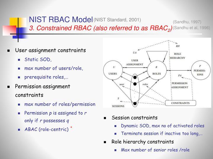 User assignment constraints