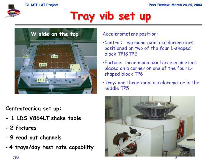 Tray vib set up