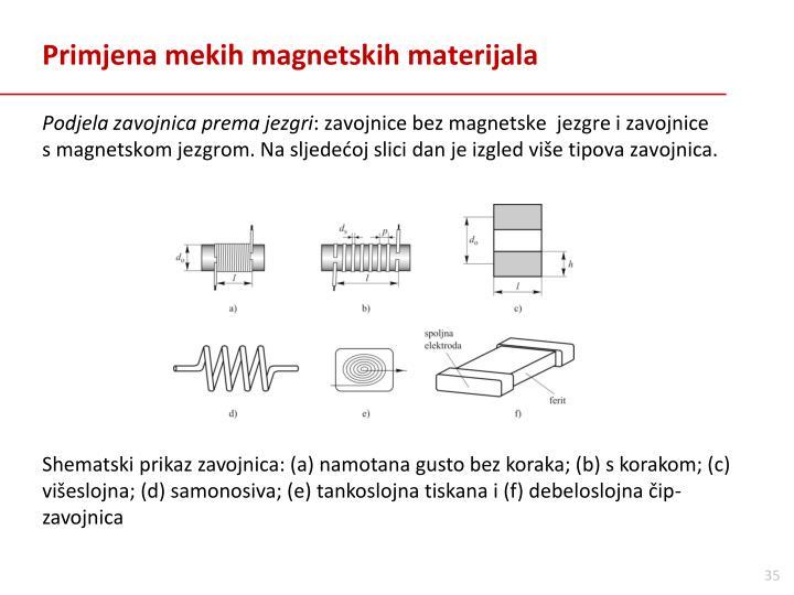 Primjena mekih magnetskih materijala