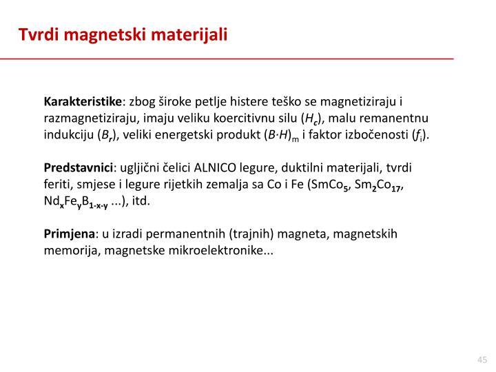 Tvrdi magnetski materijali