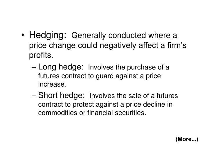 Hedging: