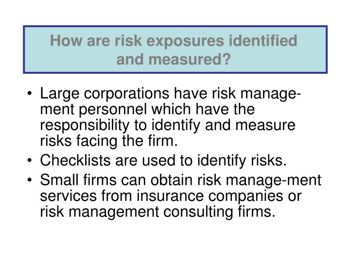 How are risk exposures identified