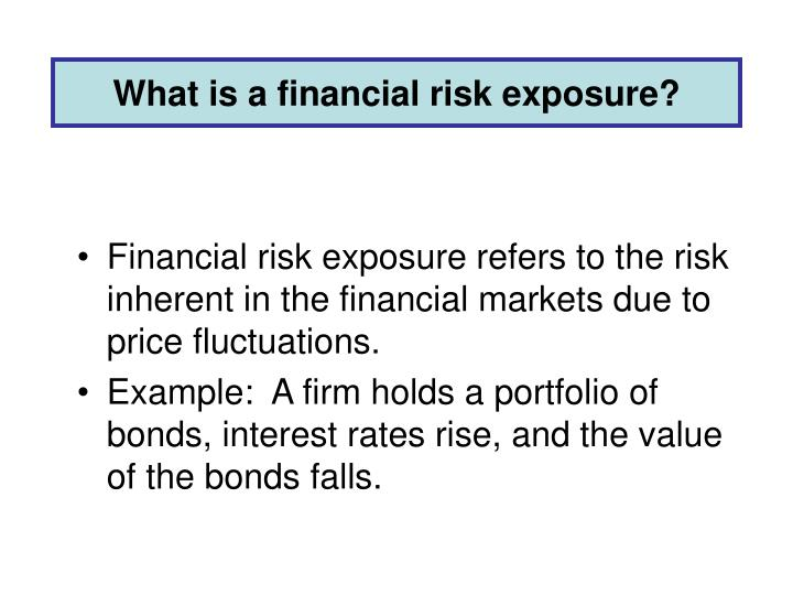 What is a financial risk exposure?