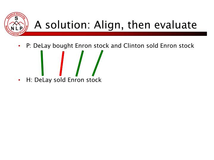 A solution: Align, then evaluate