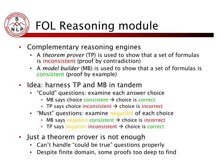 FOL Reasoning module