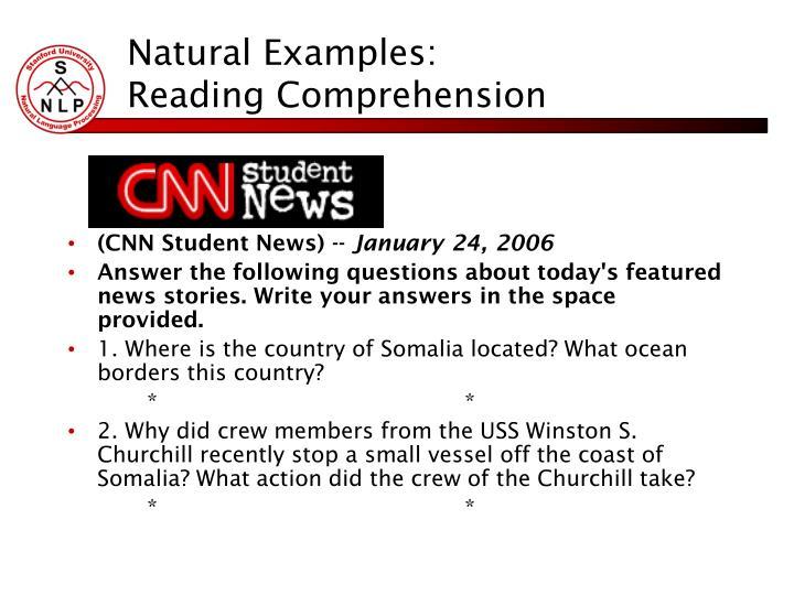 Natural Examples: