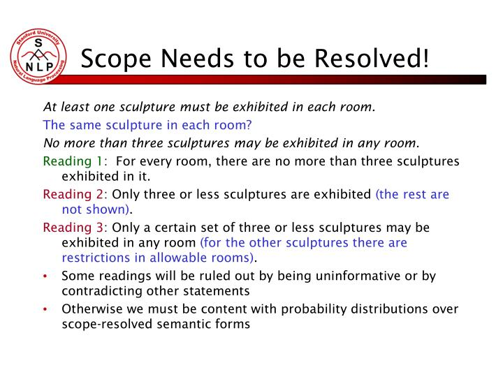 Scope Needs to be Resolved!