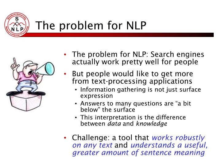The problem for NLP