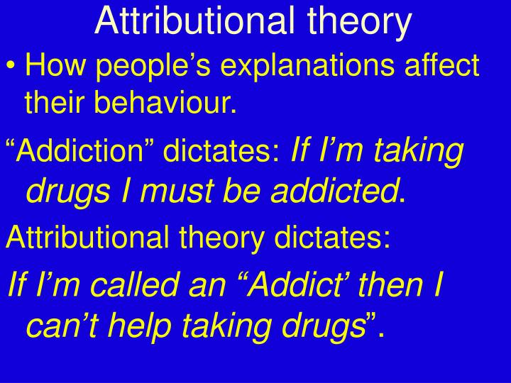 Attributional theory
