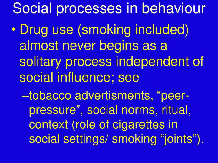 Social processes in behaviour