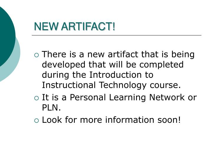 NEW ARTIFACT!