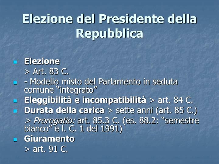 Elezione del Presidente della Repubblica