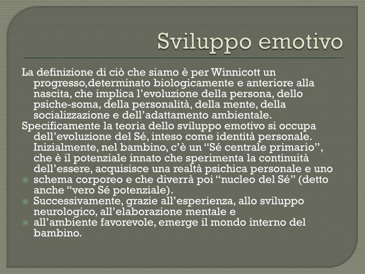 Sviluppo emotivo