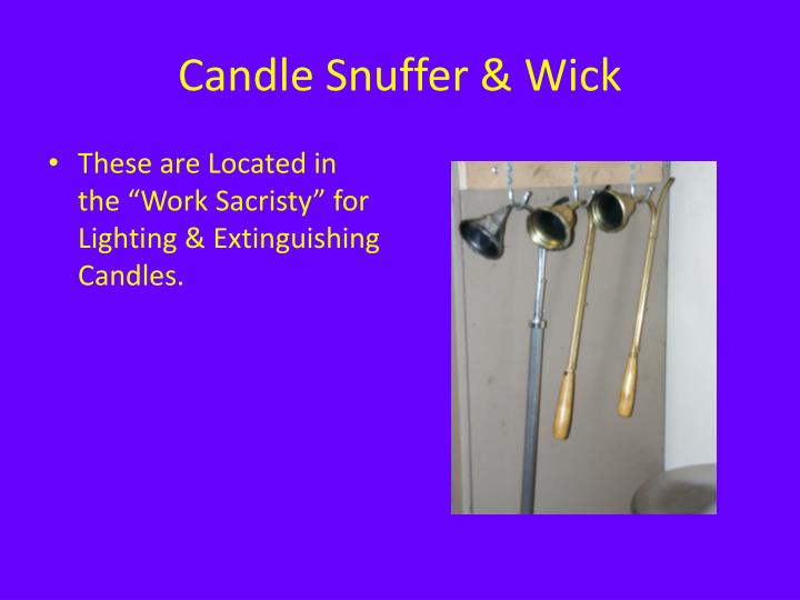 Candle Snuffer & Wick