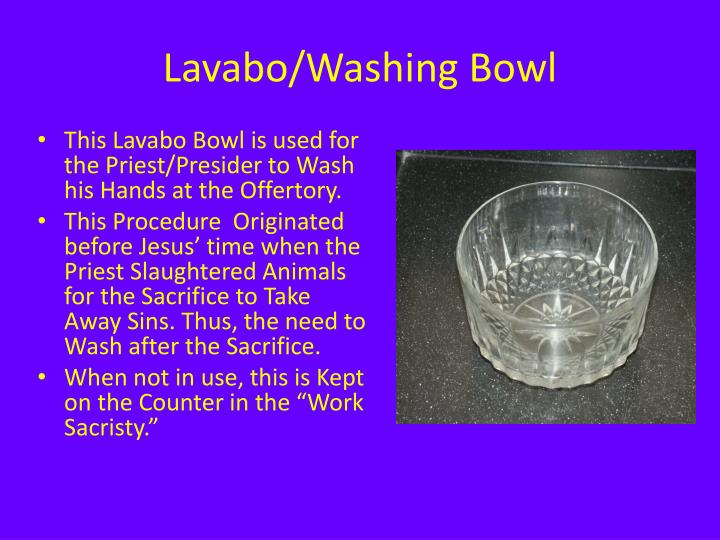 Lavabo/Washing Bowl
