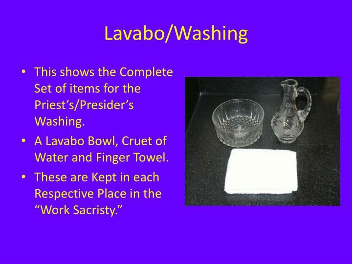 Lavabo/Washing