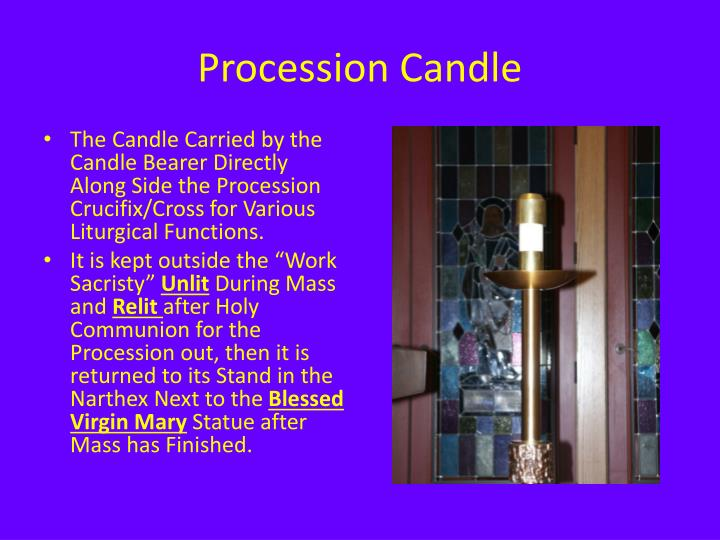 Procession Candle