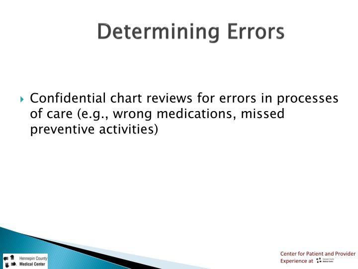 Determining Errors