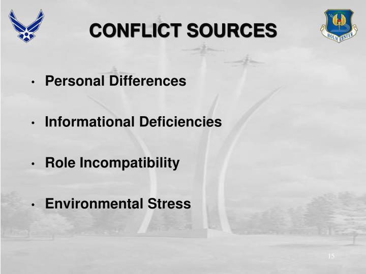 CONFLICT SOURCES