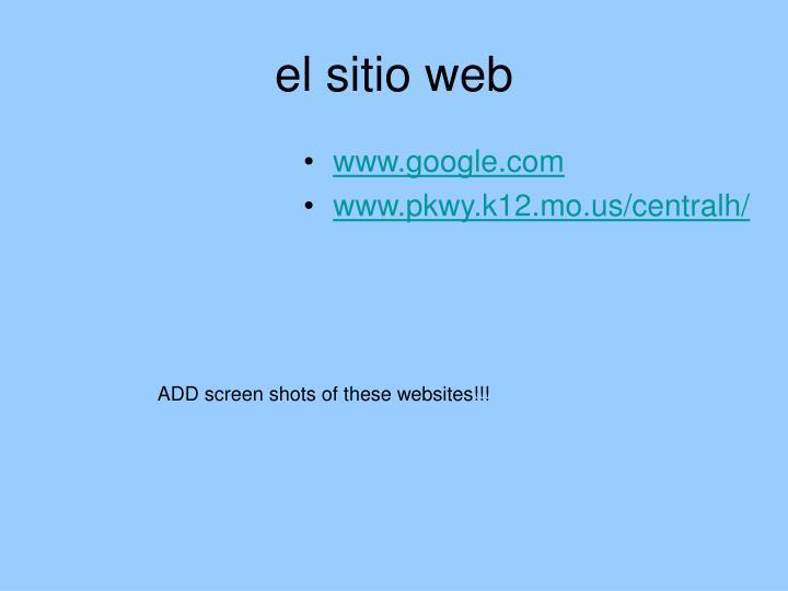el sitio web