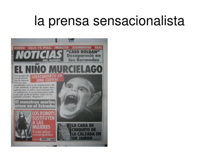 la prensa sensacionalista