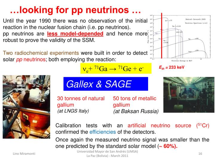 …looking for pp neutrinos …