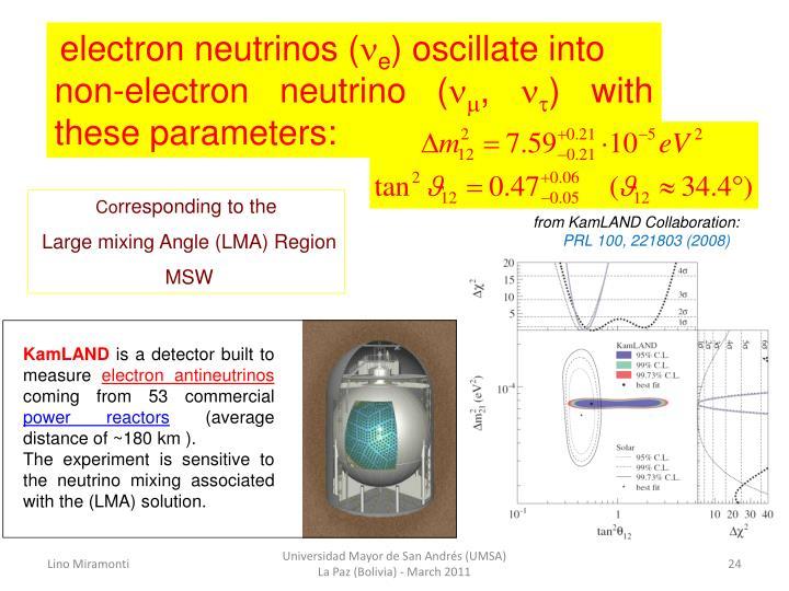 electron neutrinos (