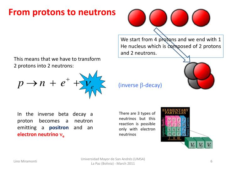 From protons to neutrons