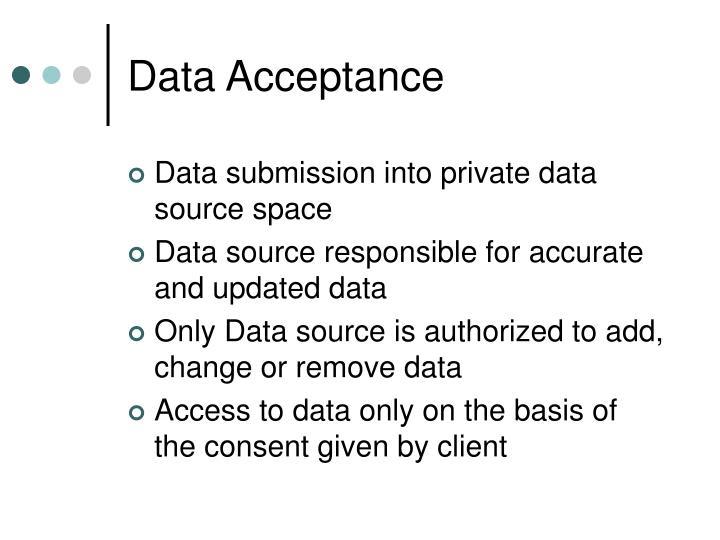 Data Acceptance