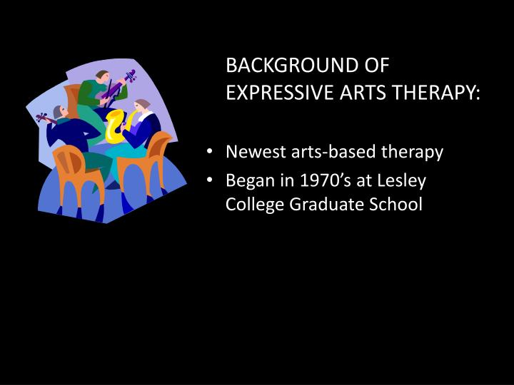 BACKGROUND OF EXPRESSIVE ARTS THERAPY: