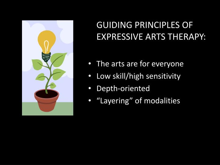 GUIDING PRINCIPLES OF EXPRESSIVE ARTS THERAPY: