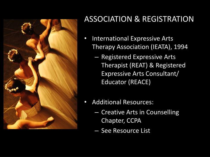 ASSOCIATION & REGISTRATION