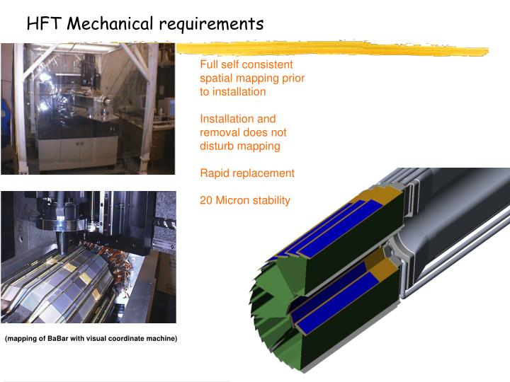 HFT Mechanical requirements