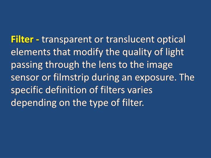 Filter -