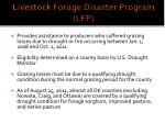 livestock forage disaster program lfp