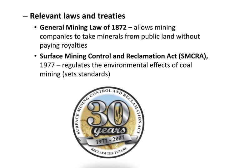 Relevant laws and treaties