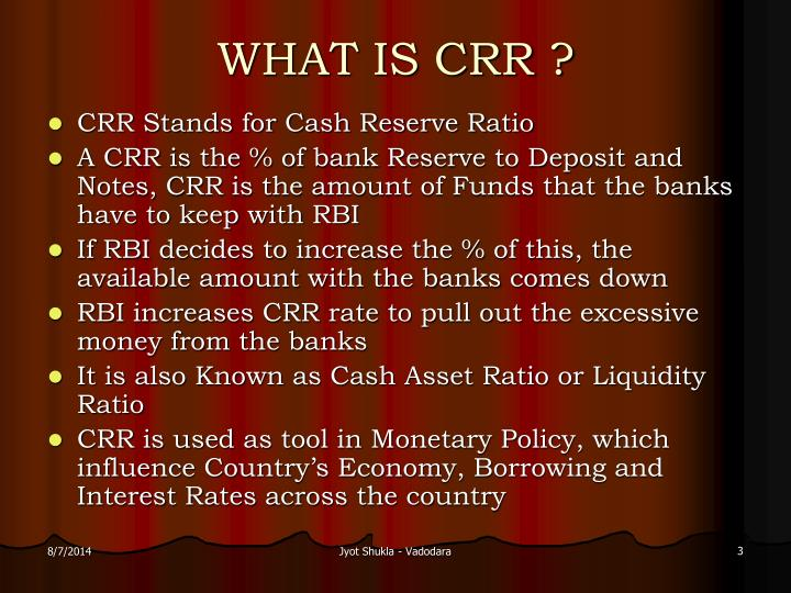 What is crr