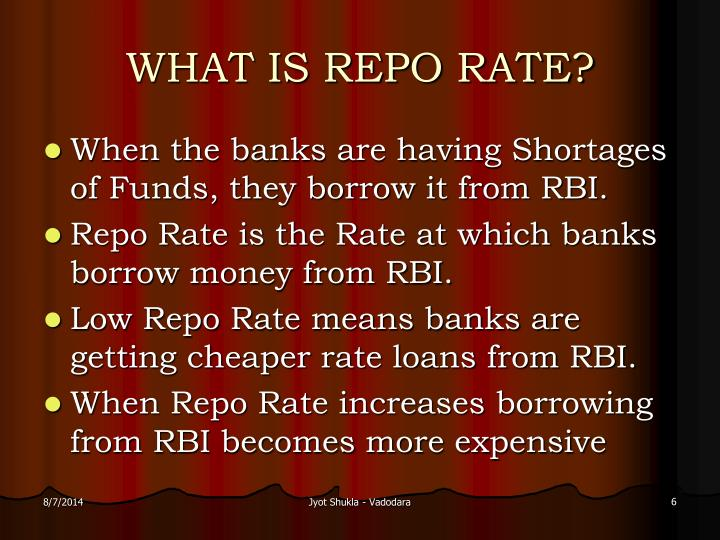 WHAT IS REPO RATE?