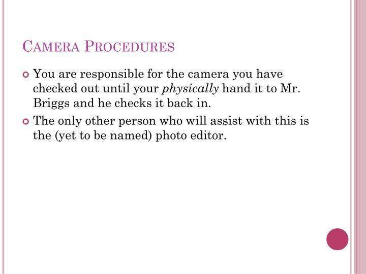 Camera Procedures