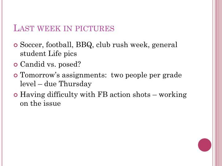 Last week in pictures