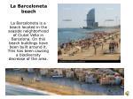 la b arceloneta beach