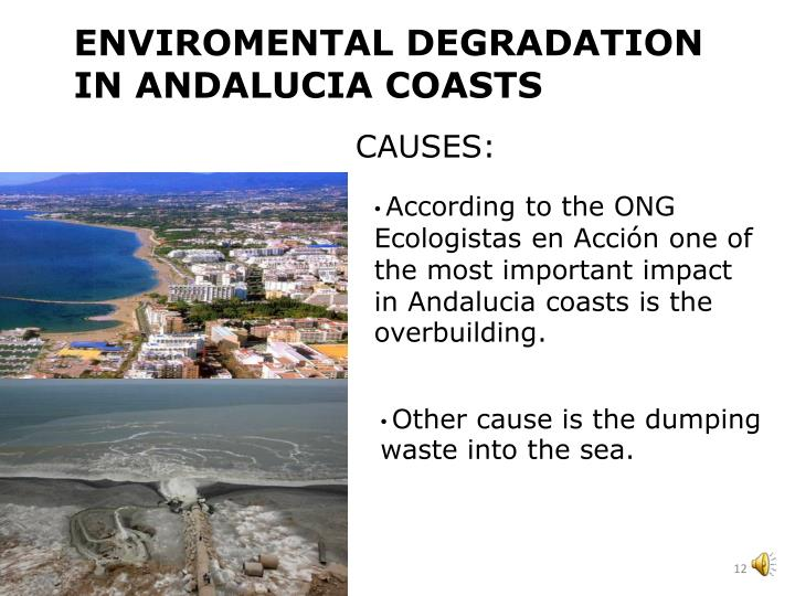 ENVIROMENTAL DEGRADATION IN ANDALUCIA COASTS