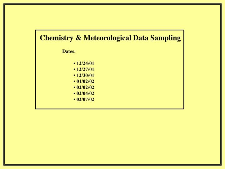 Chemistry & Meteorological Data Sampling