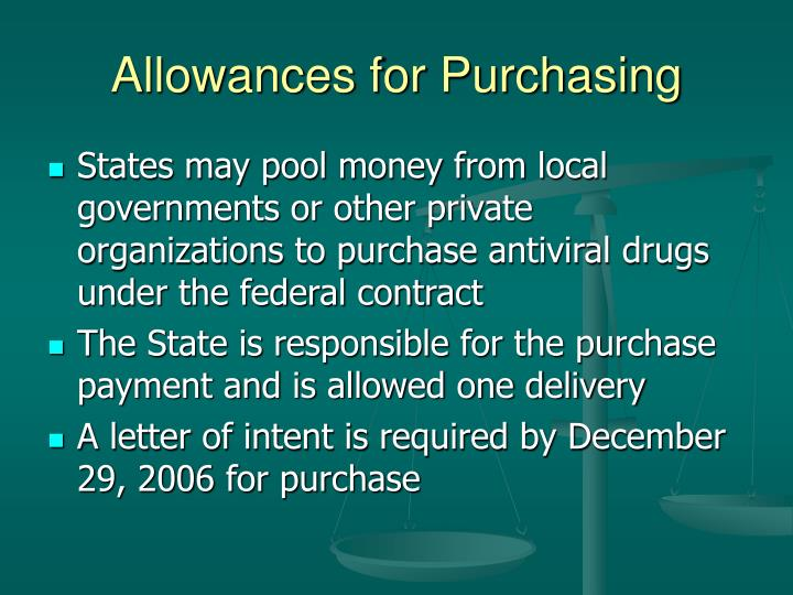 Allowances for Purchasing