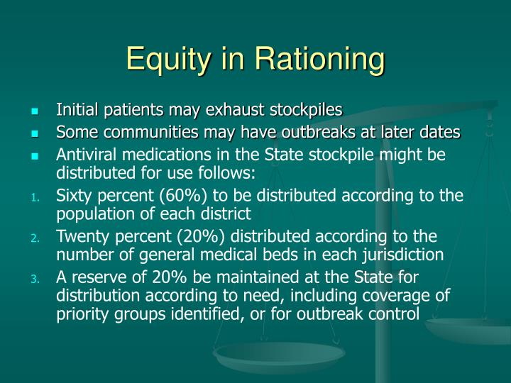 Equity in Rationing