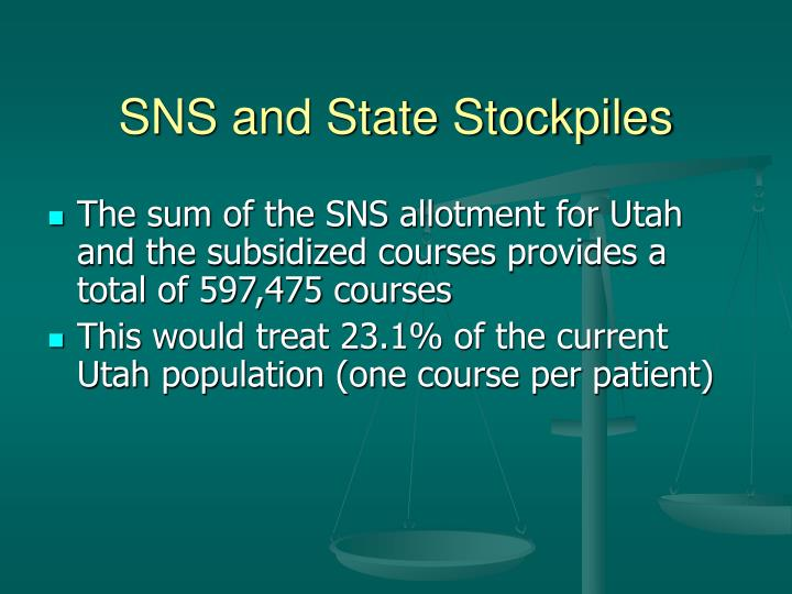 SNS and State Stockpiles