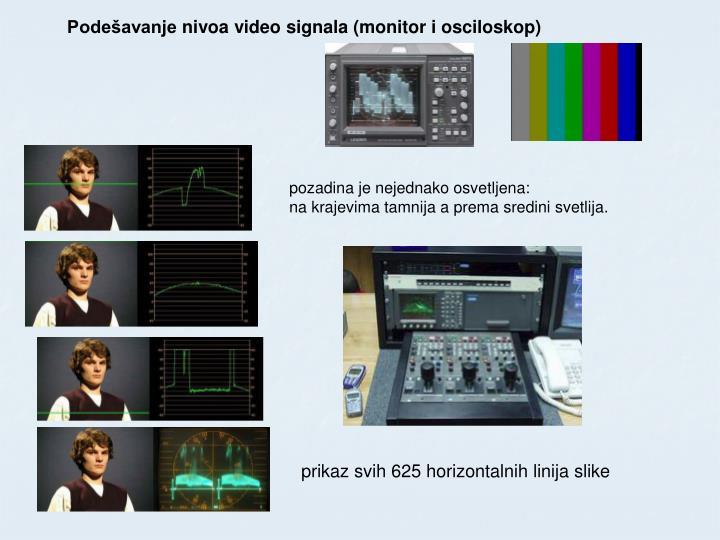 Podešavanje nivoa video signala (monitor i osciloskop)