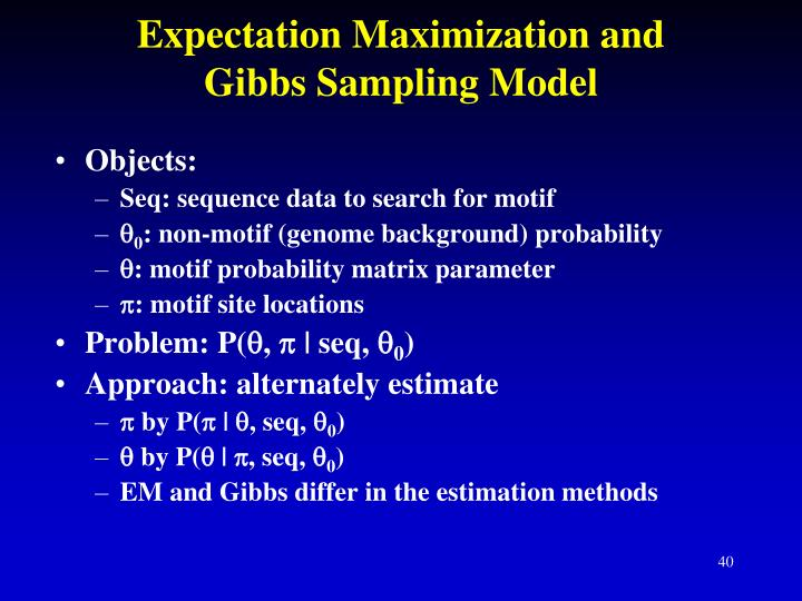 Expectation Maximization and