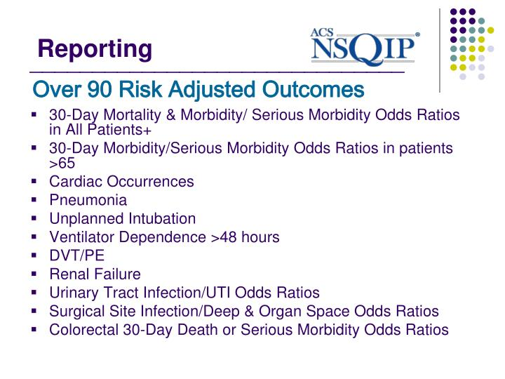 Over 90 Risk Adjusted Outcomes