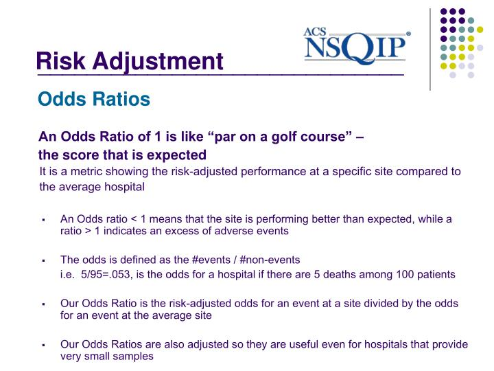 """An Odds Ratio of 1 is like """"par on a golf course"""" –"""